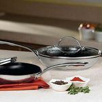 """Princess House Princess Heritage  Stainless Steel Nonstick 10"""" Skillet w/Lid 6265"""