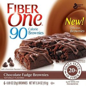 Fiber One - 90 Calorie Chocolate Fudge Brownies