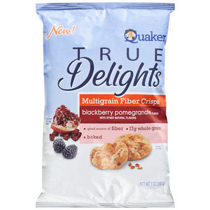 Quaker - True Delights Blackberry Pomegranate Multigrain Fiber Crisps