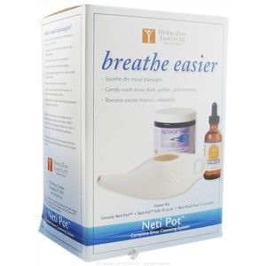 Himalayan Institute Original Neti Pot Complete Sinus Cleansing System Starter Kit