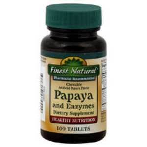 Finest Natural Papaya and Enzymes Chewable Tablets
