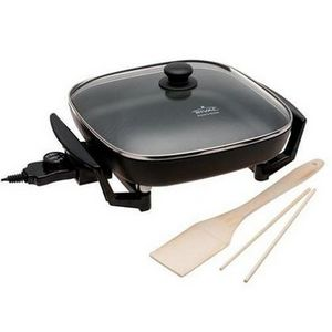"Rival 12"" Electric Square Skillet with Glass Lid"
