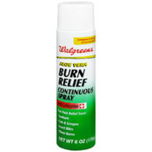 Walgreens Aloe Vera Burn Relief Continuous Spray with Lidocaine
