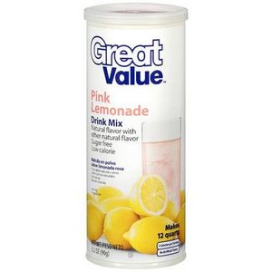 Great Value - (Walmart) Pink Lemonade Drink Mix