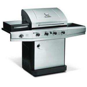 Char-Broil 4-Burner Propane Grill with Outdoor Stove Sideburner 463420511