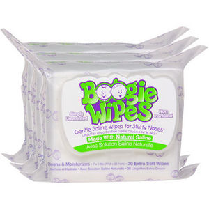 Boogie Wipes Gentle Saline Wipes - Simply Unscented