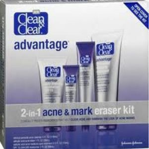 Clean & Clear Advantage 2 In 1 Acne & Mark Eraser Kit