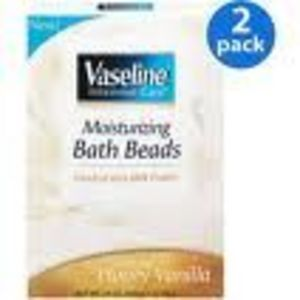 Vaseline Moisturizing Bath Beads with Milk Protein (Soothing Honey Vanilla)