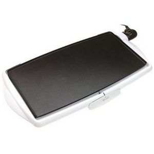 "Rival 10"" X 20"" White Cool Touch Griddle"