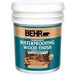 Behr Transparent Waterproofing Wood Finish