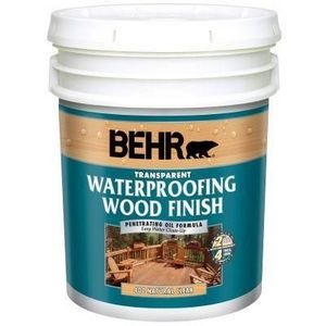 Behr Transparent Waterproofing Wood Finish