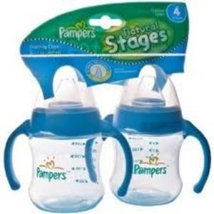 Pampers Natural Stages BPA Free Cups 2-Pack - Stage 4 - 7 oz Baby Bottle