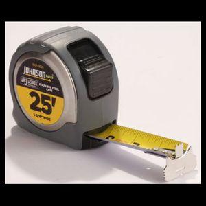 Johnson BIG J Stainless Steel Case Power Tape, 25'