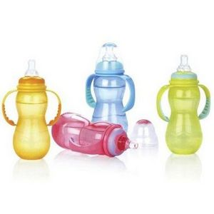 Nuby 3 Stage Grow Non-Drip Plastic Baby Bottles