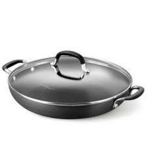 Calphalon D1382PB Commercial Hard-Anodized 12-inch Everyday Pan with Lid