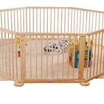 Aosom Baby/Kids Wooden Room Divider - 8 panel