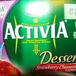 Dannon Activia Yogurt Dessert Strawberry Cheesecake
