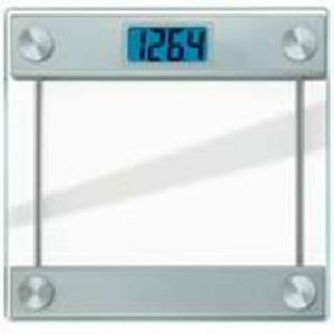 Taylor Precision Products # Ultra Thick Glass Digital Scale with LCD Blue Backlit Readout