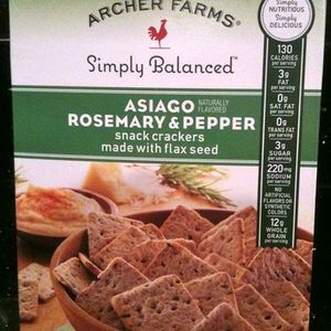 Archer Farms - Simply Balanced Asiago Rosemary & Pepper Snack Crackers w/ Flax See