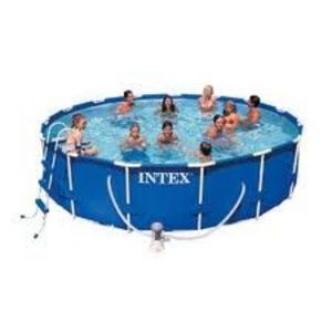 "Intex 14' x 42"" Round Metal Frame Pool"