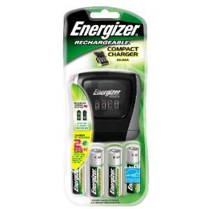 Energizer - Rechargable Compact Charger Model: CHDC8