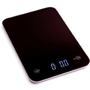 Ozeri Touch II Professional Digital Kitchen Scale, in Elegant Tempered Glass with Reflective Surface