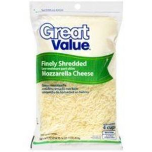 Great Value (Walmart) Shredded Mozzarella Cheese
