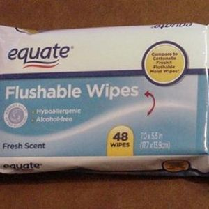 Equate (Walmart) All Purpose Flushable Wipes - Fresh Scent