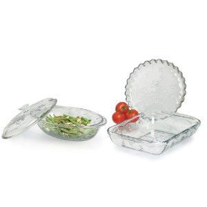 Anchor Hocking Savannah Clear Bakewear & Dinnerwear