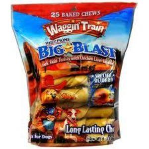 Waggin Train Pork Skin Twist with Liver Center