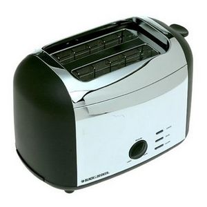 Black & Decker Classic Chrome 2-Slice Toaster