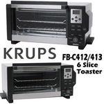 Krups 6 Slice Convection Toaster Oven 1600 Watts