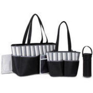 Baby Boom 5 in 1 Diaper Bag Black/Grey