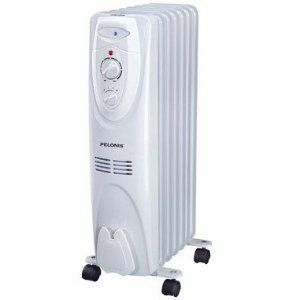 Pelonis Portable Oil-Filled Electric Radiator Heater