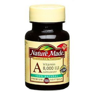 Nature Made Vitamin A 8000 I.U. Softgels