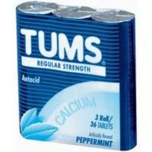 Tums Regular Strength Antacid - Peppermint