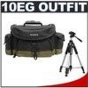 Canon 10EG Digital SLR Camera Case Gadget Bag + Deluxe Tripod for EOS Rebel XT, XTi, XS, XSi, T1i, 5...