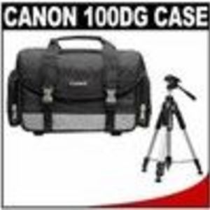 Canon 100DG Digital SLR Camera Case Gadget Bag + Deluxe Tripod for EOS Rebel XT, XTi, XS, XSi, T1i, ...