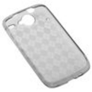 GTMax Durable Gel Skin Protector Case - Smoke Checker For HTC Google Nexus One 1 Cell Phone
