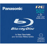 Panasonic LM-BE50DE Blu-Ray Disc 2x Speed, 50GB 2x BD-RE Jewel Case Storage Media Single