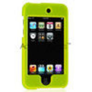Apple iPod Touch 2 Rubberized Plastic Case - Neon Green