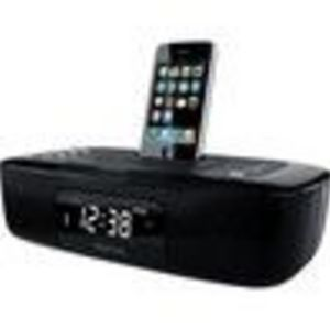 Memorex Mi4290PBLK Alarm Clock Radio for iPod/iPhone - Black