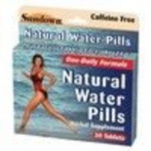 Natural Water Pills Tablets, by Sundown - 30 Tablets (Sundown)