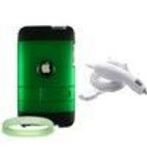 Apple iPod Touch 2nd generation 3 Item Accessories Bundle : includes Green Custom Case + Apple Ipod ...