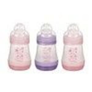 MAM Anti Colic Bottle  Girls 3pack 5oz PinkPurple