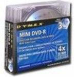 Dynex Mini DVD-R 4x Disc 3pk (600603103490) Media