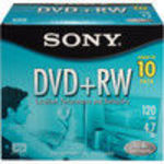 Sony (10DPW47L2T2) 4x DVD+RW Storage Media (10 Pack)
