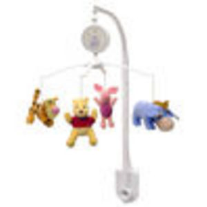 Disney Pooh Sweet Pooh Musical Mobile, Pink/White