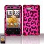 HTC Aria rubberize Leopard Skin Design Premium SnapOn Phone Protector Cover Hard Case