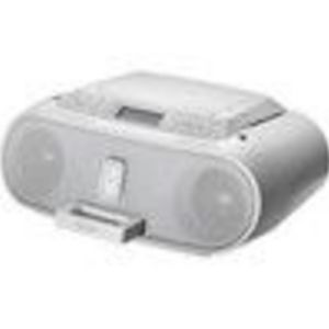 Sony CD Boombox with iPod Dock in White Docking Station